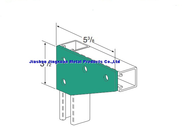 4 hole corner gusset plate