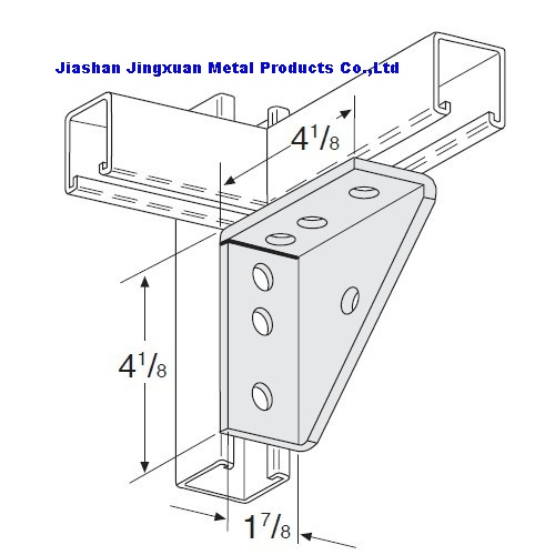 Universal Welded Shelf Bracket Strut Fitting